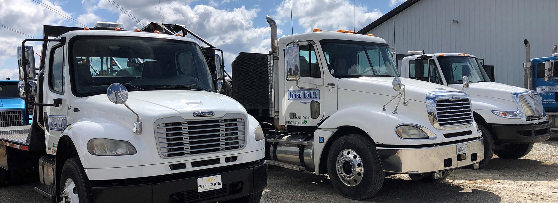 Linkel Company trucks